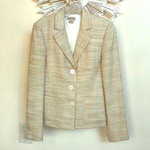 MICHAEL Michael Kors Beige Shining Jacket Blazer 6